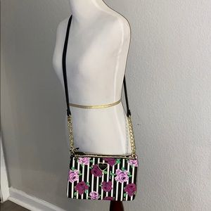 Betsy Johnson Striped Crossbody Purse